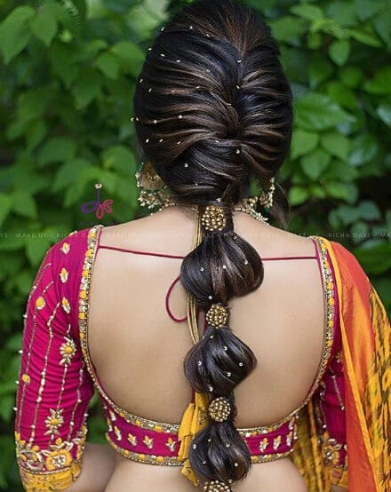 9 Reception Hairstyles For Indian Brides Candy Crow