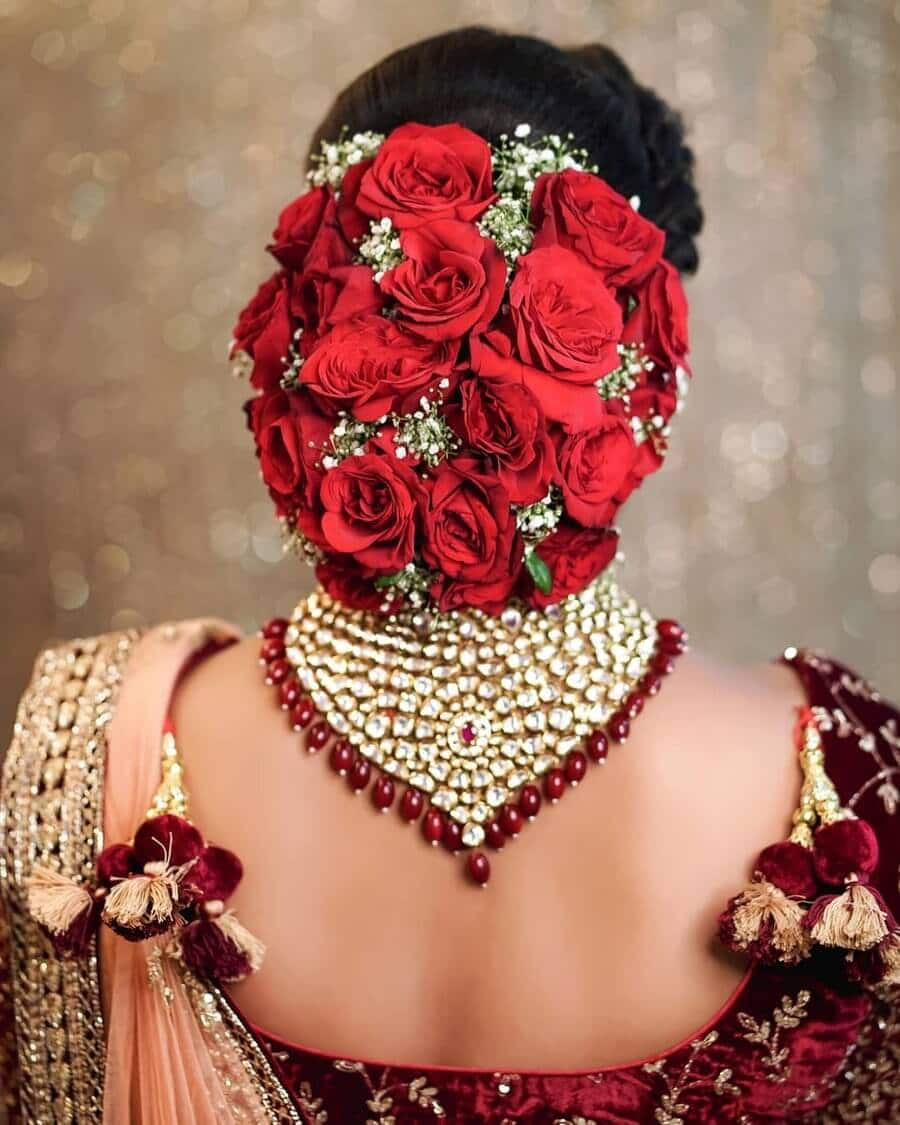 15 Indian Bridal Hairstyles With Flowers Candy Crow